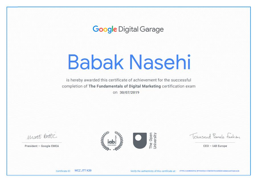 دیجیتال مارکتینگ گوگل